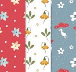花卉和蘑菇背景