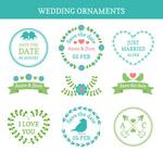 婚礼花纹标签