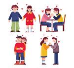 4对卡通情侣