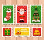 彩色圣诞邮票