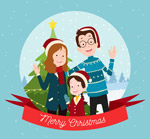 圣诞三口之家