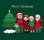 圣诞五口之家