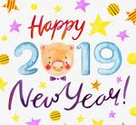 猪新年艺术字