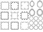 黑白效果装饰边框