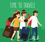 夏季旅行男女