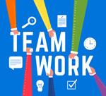 团队工作方式艺术字
