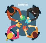 创意团队合作人物