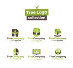 绿色树木企业标志
