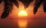 海上的夕阳风景