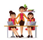商务团队女子