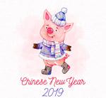 新年冬装小猪
