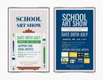 学校艺术展海报