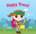 旅行中的女子