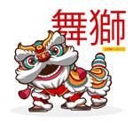 春节舞狮矢量