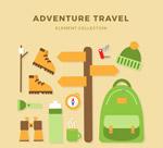 绿色探险旅行元素