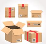 创意包装纸箱矢量