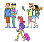 3组创意旅行人物