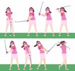 高尔夫女子动作