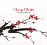 樱花树树枝矢量