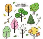 8款手绘树木