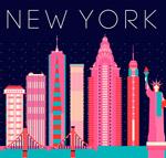 纽约城市剪影