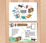 彩绘旅行明信片
