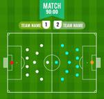 绿色足球赛阵型图
