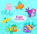 卡通表情海洋动物