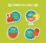 纸质夏季促销标签
