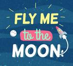 带我飞上月亮艺术字