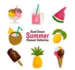 手绘夏季食物