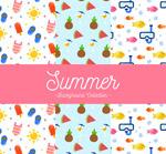 彩色夏季无缝背景