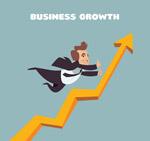 业务曲线和商务男子