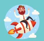 坐火箭的男子