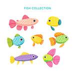 彩色花纹鱼类