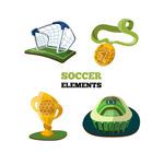 立体足球元素