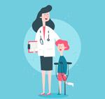 医生和孩子矢量