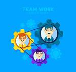 团队人物齿轮