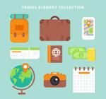 旅行物品矢量