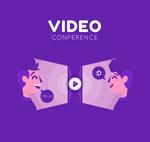 创意视频会议人物