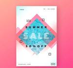 夏季半价促销传单
