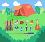 帐篷和野营物品