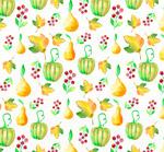 南瓜枫叶和梨背景