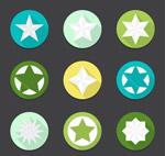 圆形星星图标