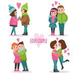 卡通甜蜜情侣