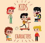 卡通大眼睛儿童