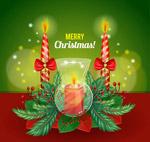 圣诞节蜡烛贺卡