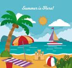 夏季度假沙滩风景