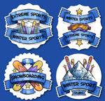 彩绘滑雪学校标签