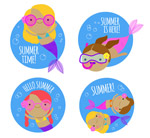 夏季潜水美人鱼标签